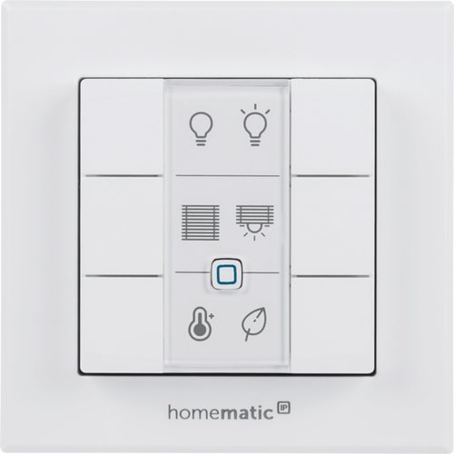 eQ-3 Homematic IP Wandtaster 6-fach Weiß